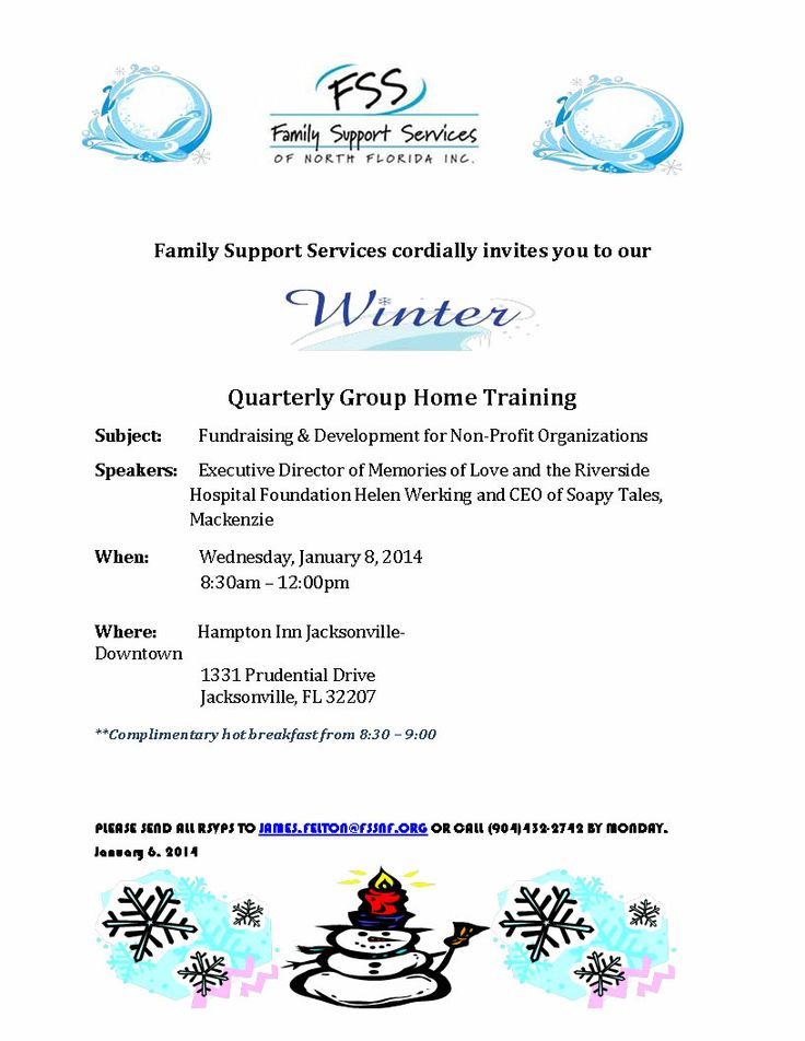 Quarterly Foster Homes Group Home Training Family