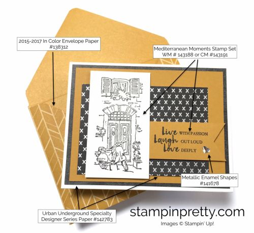 Mediterranean Moments Father's Day love card by Mary Fish, Stampin' Up! Demonstrator. 1000+ StampinUp & SUO card ideas. Read more https://stampinpretty.com/2017/04/families-first-pals-blog-hop.html