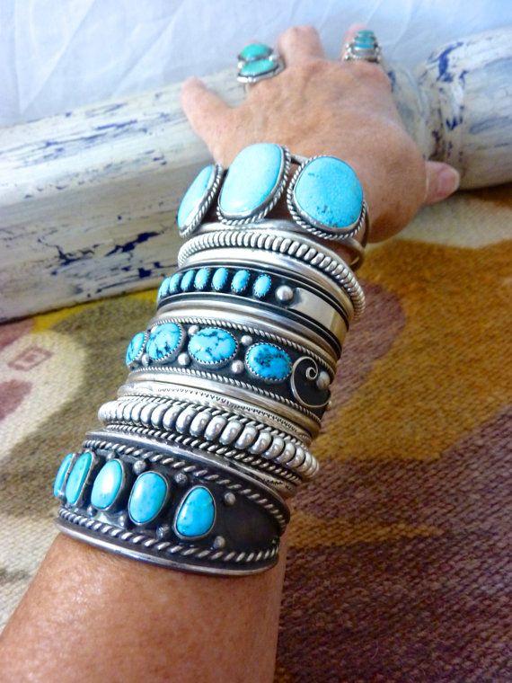 65 g Vintage Navajo Sterling Silver Cuff by PoohsCornerOTheWorld