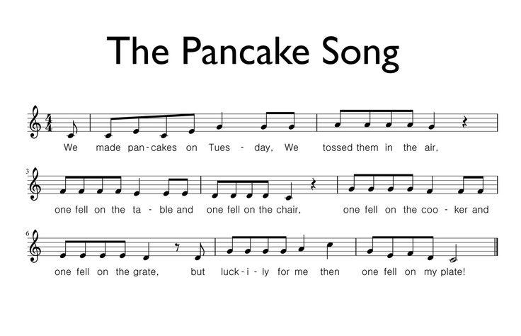 Free Sheet Music: The Pancake Song - Let's Play Music