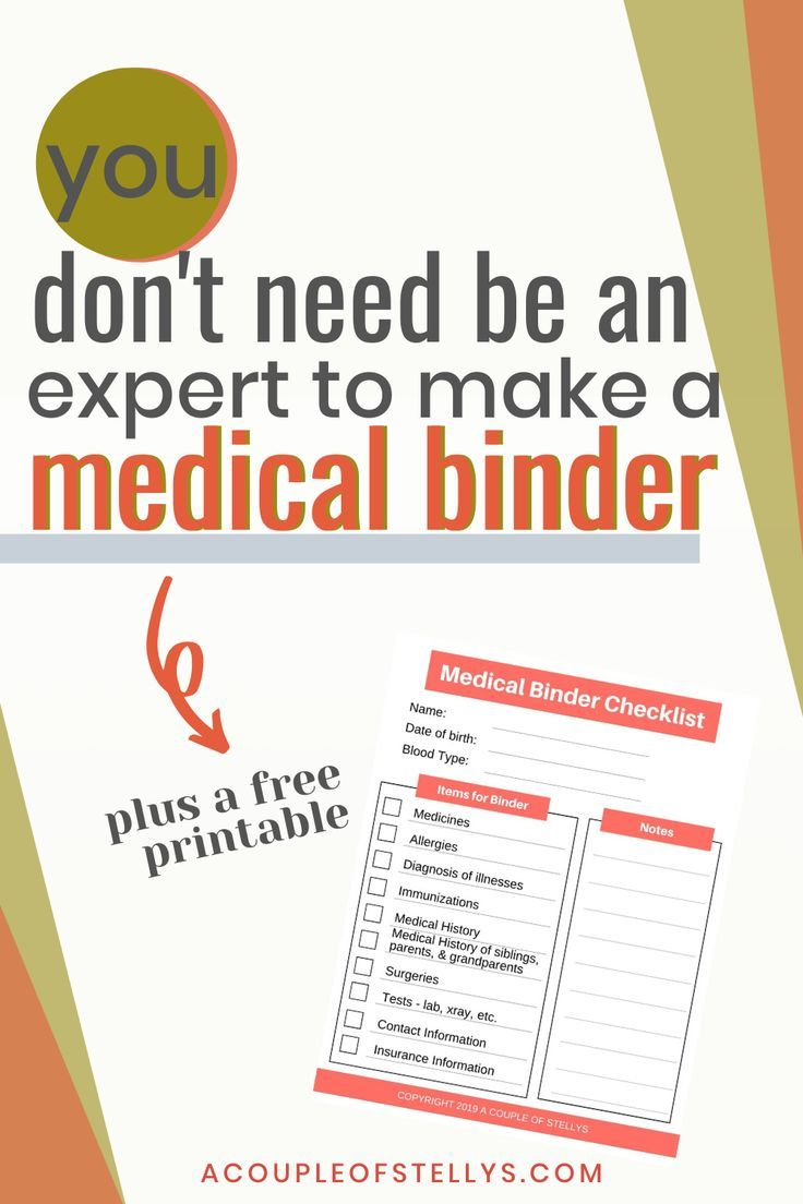 How To Organize A Medical Binder In 2020 Medical Binder Medical