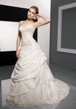 de luxe à bas prix belles robes de mariée bustier