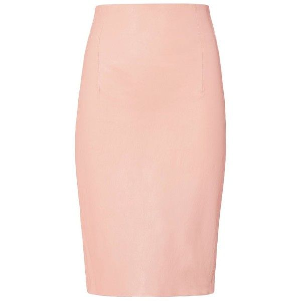 ThePerfext Women's Amsterdam Leather Skirt ($995) ❤ liked on Polyvore featuring skirts, bottoms, light pink, high waisted leather skirt, genuine leather skirt, light pink skirt, high waisted skirts and real leather skirt
