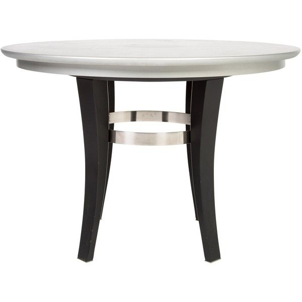 preowned roche bobois round dining table 695 liked on polyvore featuring home furniture tables dining tables grey expandable round dining table