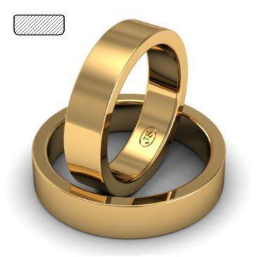 Кольцо обручальное классическое шириной 5 мм из красного золота,артикул W155R