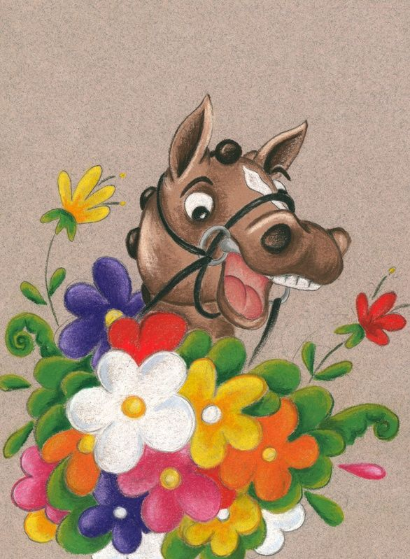 Happy Hal. A Thank you card designed for a local Horse group.