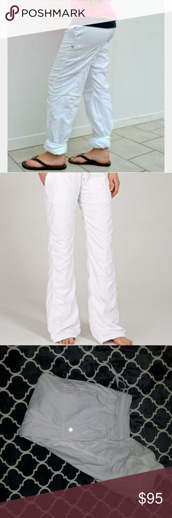 lululemon dance studio pants lined  sz 10 reg white and lined.  no issues rip tag attached. lululemon athletica Pants