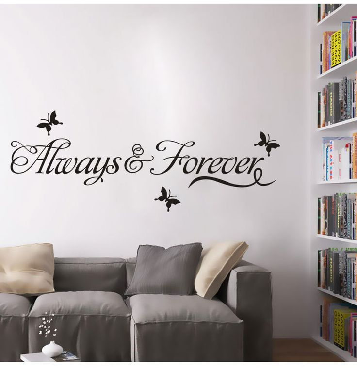Find More Wall Stickers Information About Always And Forever Living Room Bedroom  Decorative Wall Stickers English Part 66