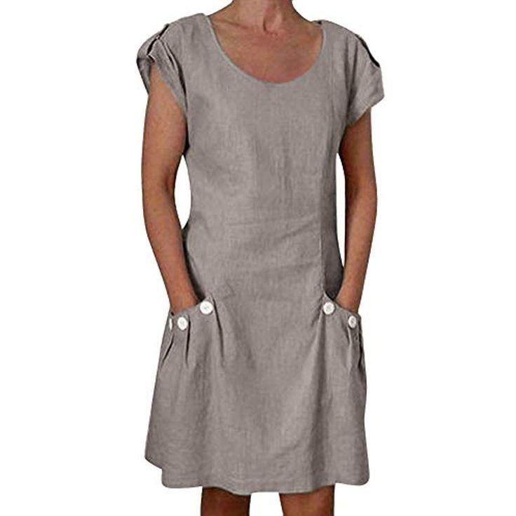 Orandesigne Damen Kleider Strand Elegant Lassig A Linie Kleid Kurzarm Sommerkleid Damen Alinie Damen Elegant K Kleider Damen Kleider Kleider Strand