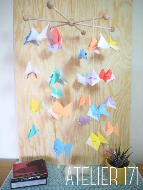 Fish mobile - Bright paper atelier171.com