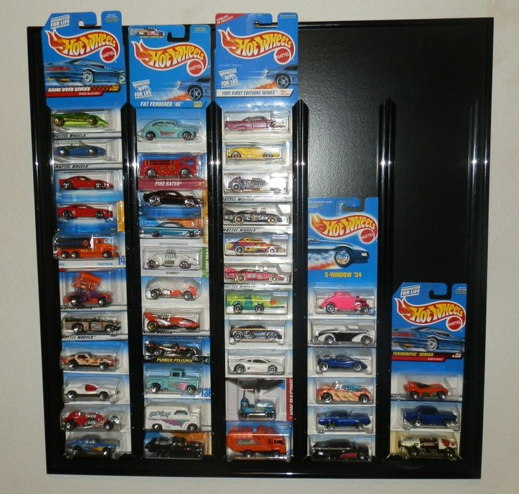 Hotwheels Matchbox Diecast Car Display Holder W/cars