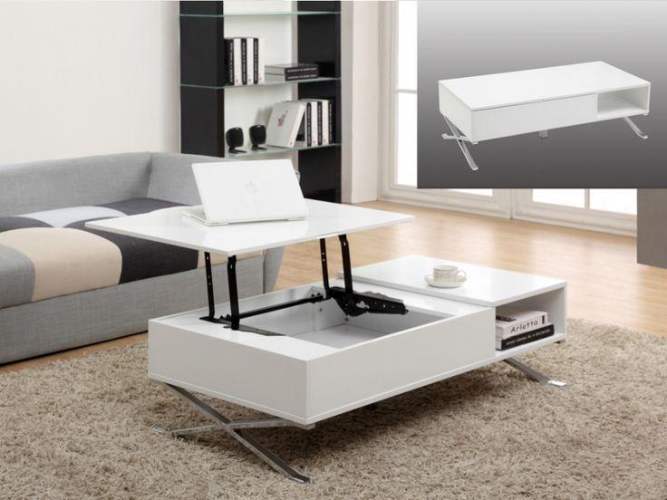 couchtisch alpano h henverstellbar wei. Black Bedroom Furniture Sets. Home Design Ideas