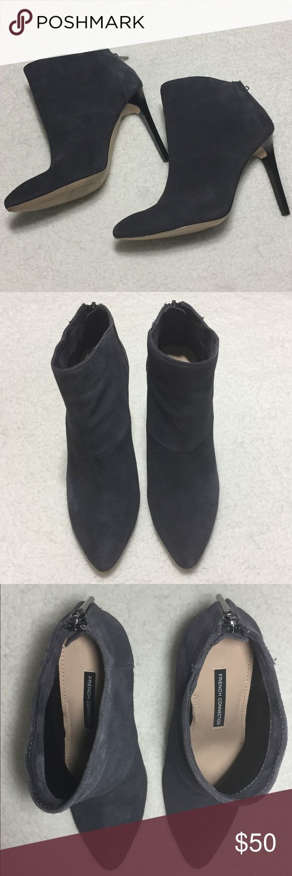 French Connection Moriah Booties Size 8.5 Preowned, no box. Please review the pictures for flaws and signs of wear.   3.11.8.17 French Connection Shoes Ankle Boots & Booties