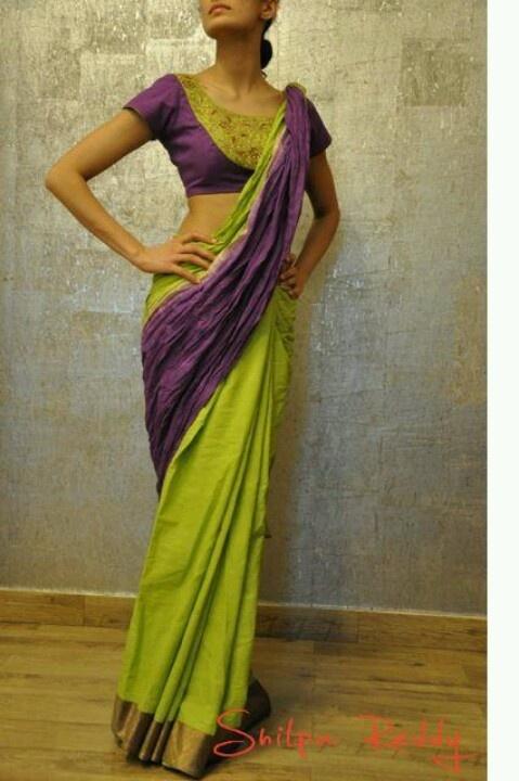 Shilpa reddy collection: love the purple green combo!