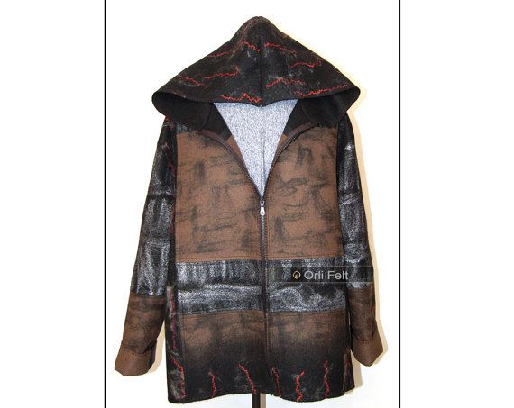 Men's felted jacket  made of wool от OrliFelt на Etsy