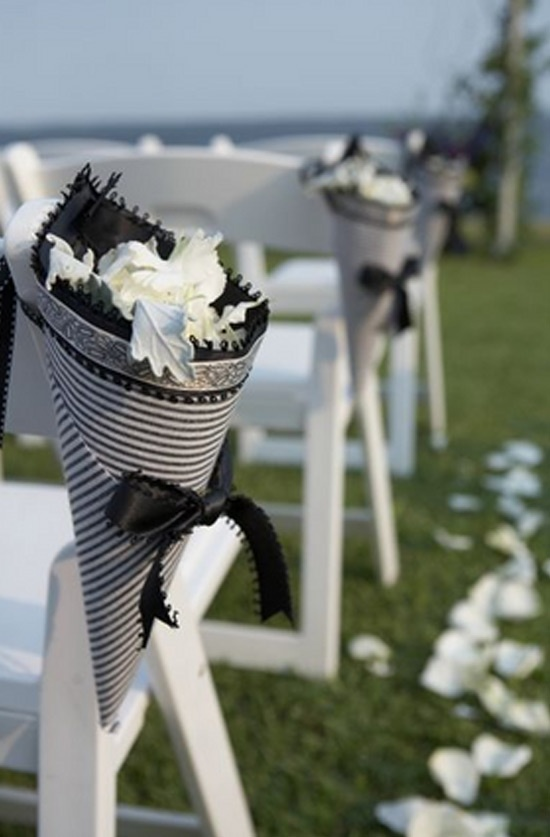 Black and White Wedding Party Theme   Eco-friendly rose petals available from Flyboy Naturals Rose Petals in over 100 colors.  www.flyboynaturals.com