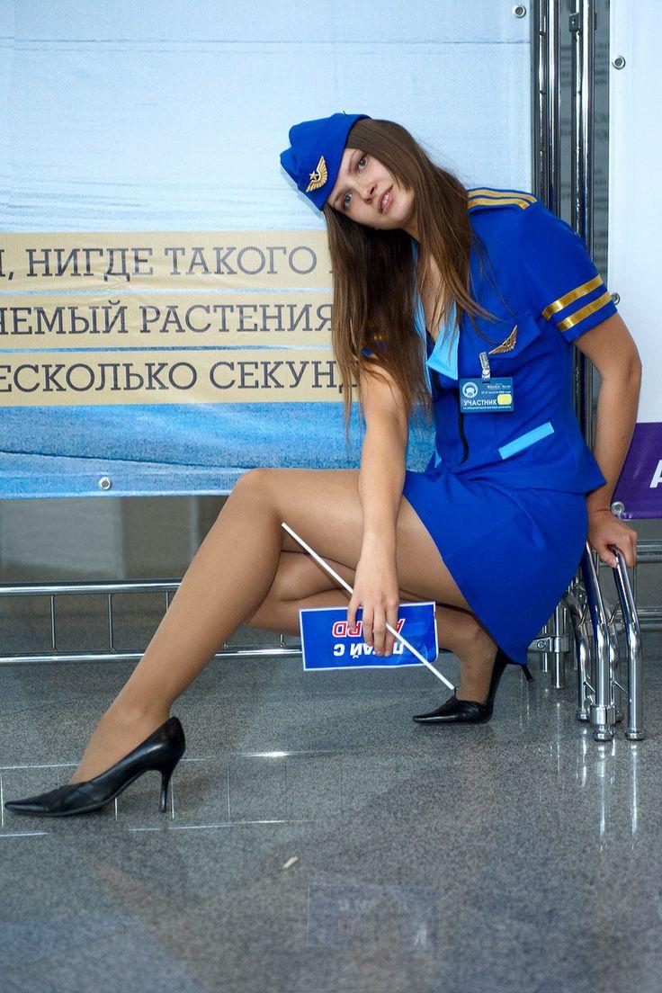 стюардеси вмини юбках без трусиков фото