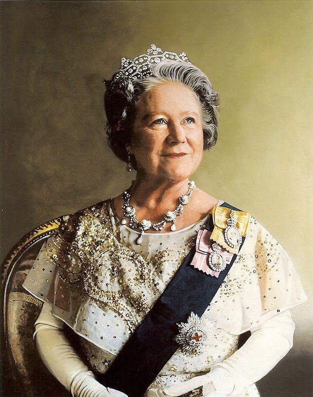 Queen Elizabeth the Queen Mother portrait. painted by Richard Stone in 1986