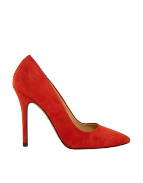 Image 4 ofWhistles French 75 Chilli Red Court Shoes