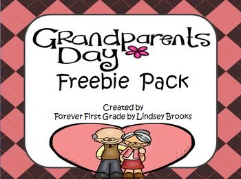 Grandparents Day No Prep Freebie Pack by Little Minds and Hearts