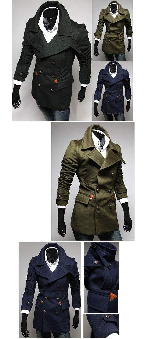 Trench coat Manteau Homme classique elegant epais FashionManteau façon trench coatélegant et trendypour homme. Existe en 3 coloris : khaki, noir, marine. Coton.Consultez les informations sur les mensurations suivantes :en général :&n