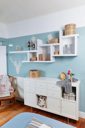 Je fabrique une jolie étagère - Relooker la maison : 20 bonnes idées déco - CôtéMaison.fr