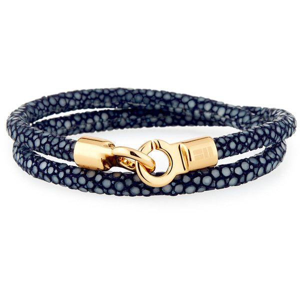 Brace Humanity Men's Stingray Wrap Bracelet ($220) ❤ liked on Polyvore featuring men's fashion, men's jewelry, men's bracelets, men's wrap bracelet, mens watches jewelry, mens bracelets and mens cord bracelets