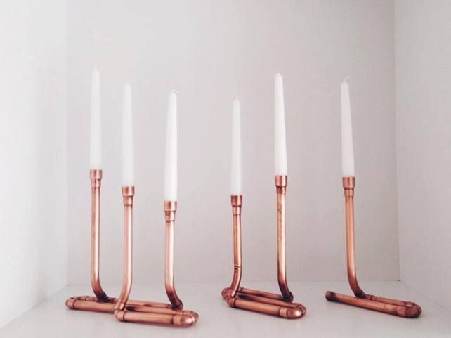 Copper Pipe Candlestick Holder £45.00