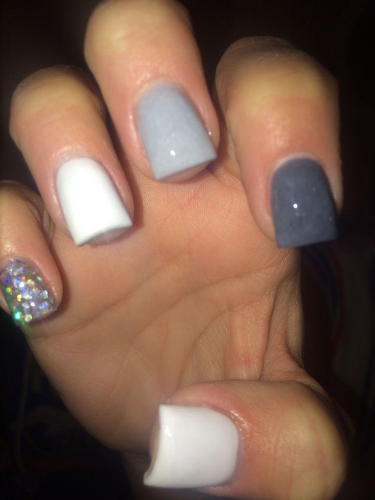 Grey acrylic nails | Acrylic nails! | Pinterest | Grey ...