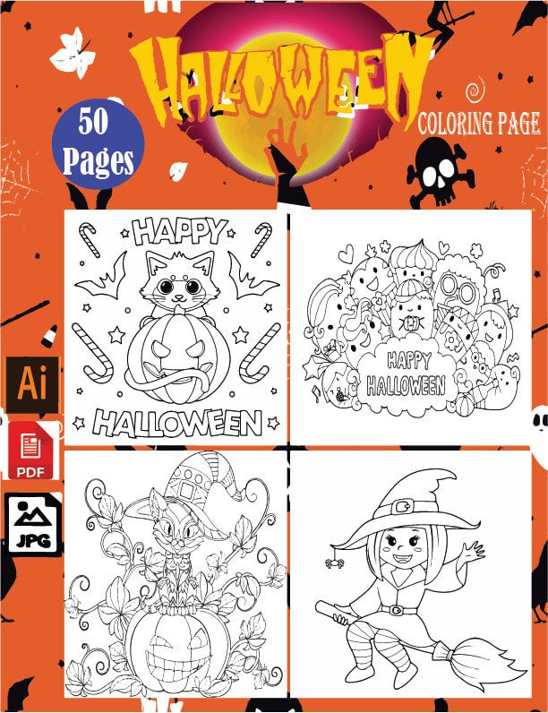 I Will Make A Halloween Coloring Book For Your Project On Kdp Just 5 Halloween Coloring Book Coloring Books Mandala Coloring Books