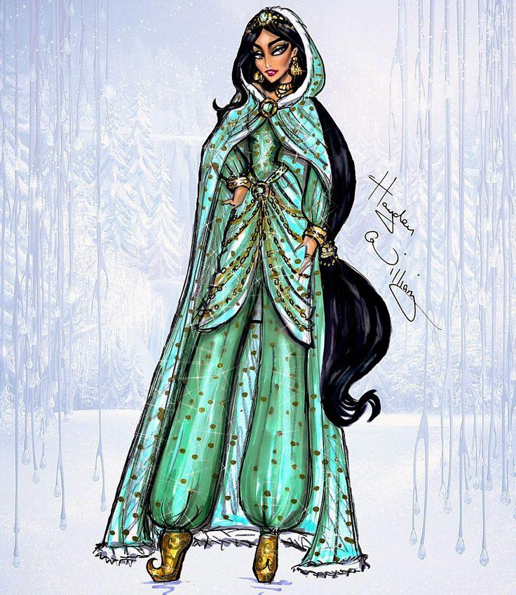 Hayden Williams Fashion Illustrations: Disney Divas 'Holiday' collection by Hayden Williams: Jasmine
