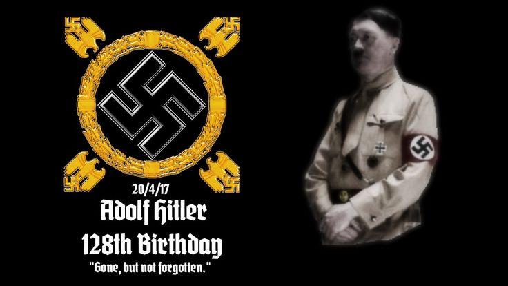 Adolf Hitler's 128th Birthday FØRST VIL JEG LIGE SIG AT JEG ER EN IDIOT TIL FØDSELSDAGE, DE INTERESSERE MIG IKKE DET MINDSTE OG JEG GLEMMER DEM DERFOR. MEN I HVERT FALD STORT TILLYKKE MED FØDSELSDAGEN IGÅR HR.ADOLF HITLER TILYKKE MED DE 128 ÅR. DU LEVER VIDERE I MILIONER AF HJERTER VERDEN OVER OG VI KÆMPER KAMPEN VIDERE.  VI VIL ALDRIG BUKKE VORES HOVEDER I SKAM NÅR DIT NAVN BLIVER NÆVNT MEN LØFTE HOVEDET I STOTHED, OG SIGE MED RESPEKT JEG KAN FANDME LOVE DIG FOR AT JEG MENER HR.ADOLF HITLER…