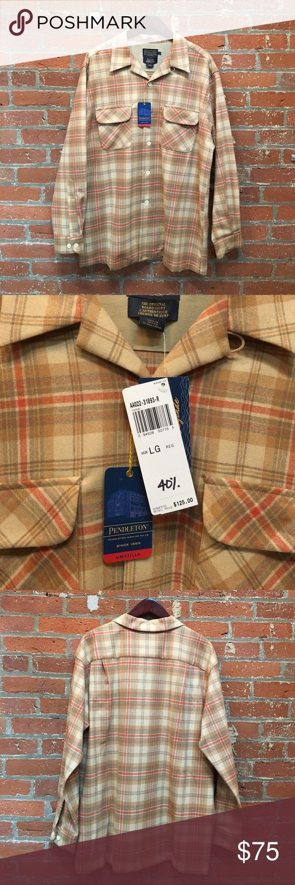 NWT The Original Pendleton Board Shirt NWT original Pendleton Board Shirt, 100% virgin Wool plain weave. machine washable. Pendleton Shirts Casual Button Down Shirts
