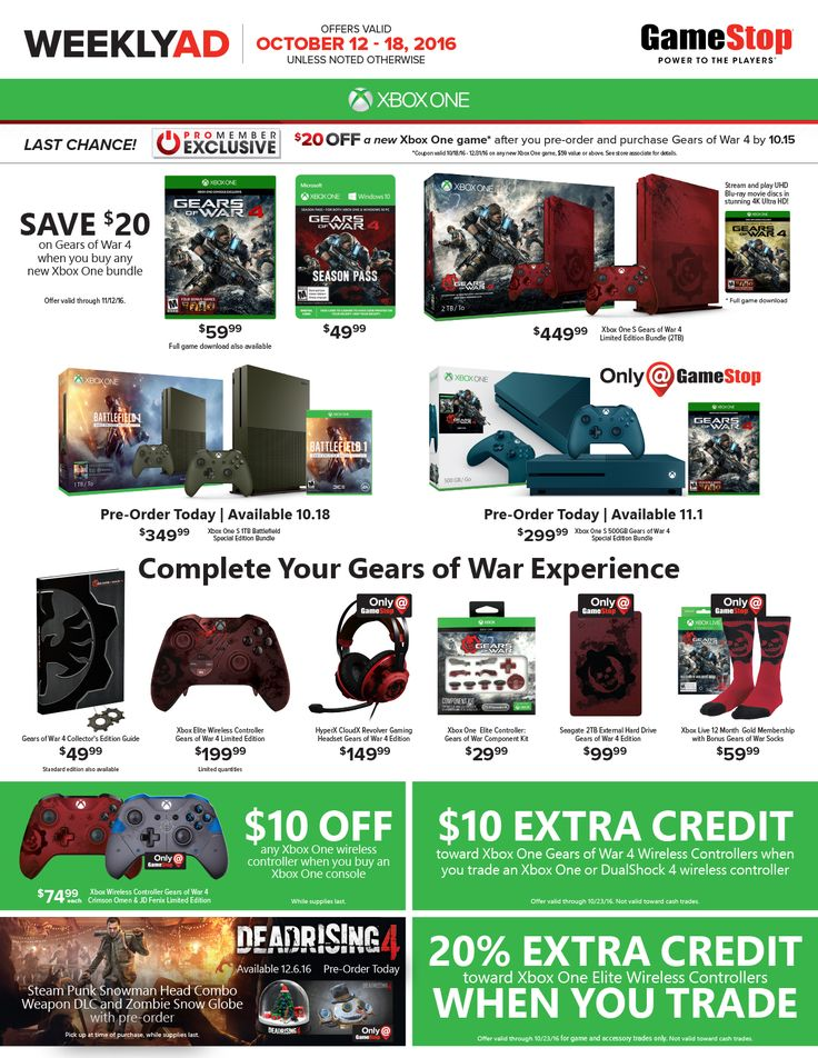 Game Stop Weekly Ad October 12 - 18, 2016 - http://www.olcatalog.com/game-stop/game-stop-weekly-ad.html