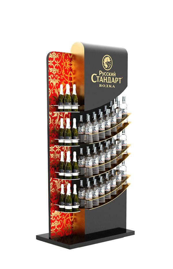 Russian Standard vodka stand by Dmitry Gelishvili, via Behance