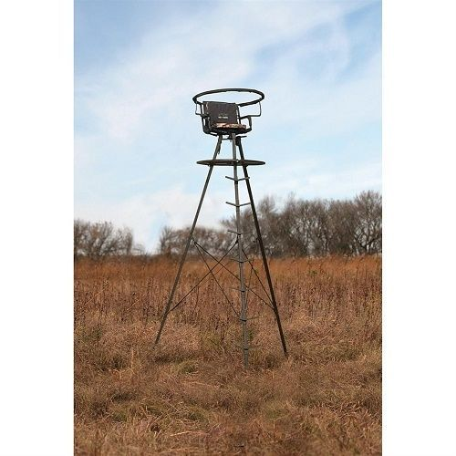 Tripod Tree Stand Sniper Deluxe 13' Swivel Top  #Sniper