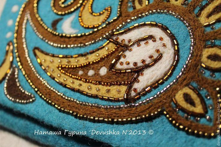 """Купить Кошелёк из серии """"Инди"""" - морская волна, пейсли, индийский стиль, индия, индийские мотивы"""
