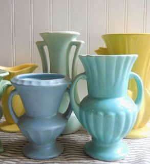 McCoy Pottery Collection, This Gal has a so many beautiful pieces. ~MWP, - Hope and Joy Home: McCoy pottery and more