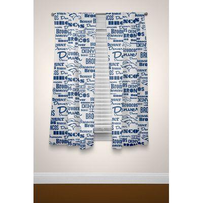 NFL Broncos Anthem Curtain Panel