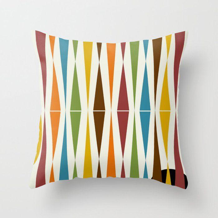 Mid Century Modern Art 1 4 Throw Pillow By Oldurbanfarmhouse Society6 In 2020 Midcentury Throw Pillows Throw Pillows Mid Century Modern Art