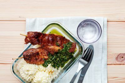 Spett med kålmos och salsa verde