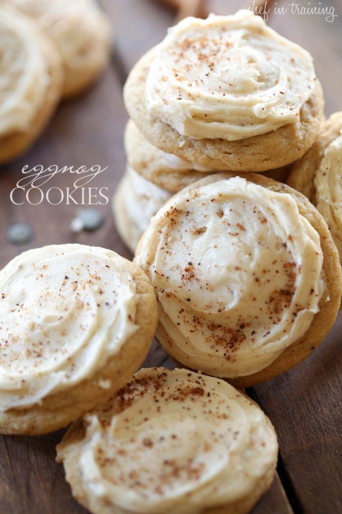 10/10. Eggnog Cookies.  Use purple medium scoop. Flatten ever so slightly before putting in oven.