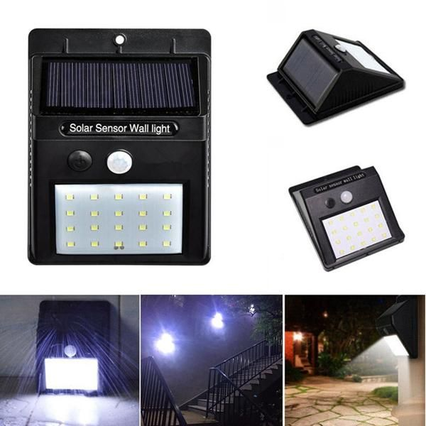 48 LED Solar Power PIR Motion Sensor Wall Light Garden Lamp Security Waterproof