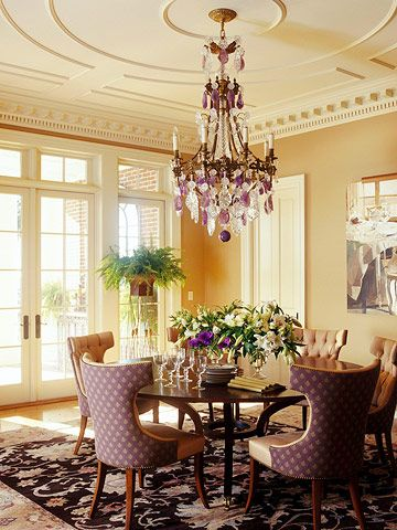 Add delightful details around your home beautiful the for Beautiful dining room chandeliers