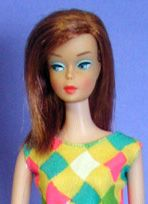 The exquisite Color Magic Barbie, made only in 1966.  Very difficult to get and highly desired by collectors.