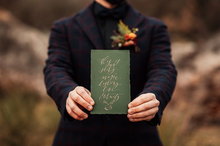 Bespoke modern calligraphy.Emotional and artistic. Emerald green & old gold. Styled shoot. destination_wedding_photographer_artistic_emotional_documentary wedding_inspirational shoot_styled wedding_land of white deer (32)