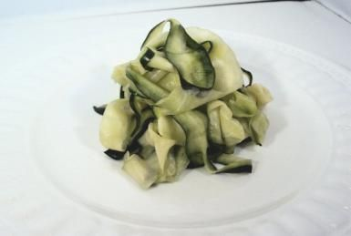 """Grain and Gluten-Free Pasta You've Got to Try: """"Pasta"""" made from strips of zucchini"""