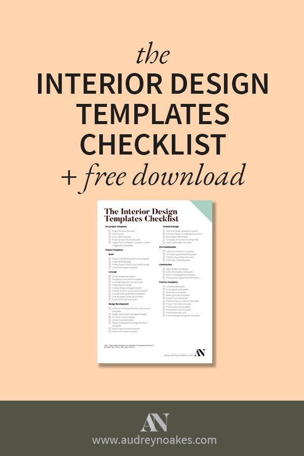 The Interior Design Templates Checklist Interior Design Template