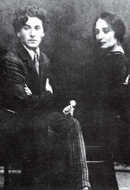 Marc Chagall and his wife Bella, circa 1922