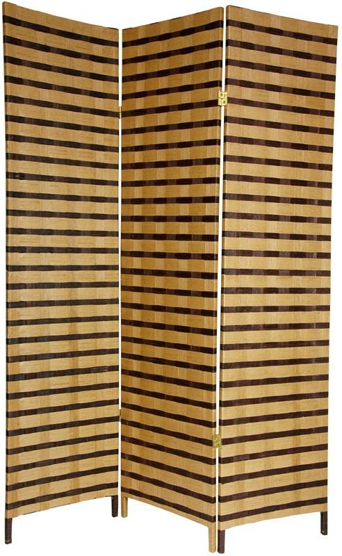 Room Dividers.com Part - 20: Tall Two Tone Natural Fiber Room Divider | RoomDividers.com